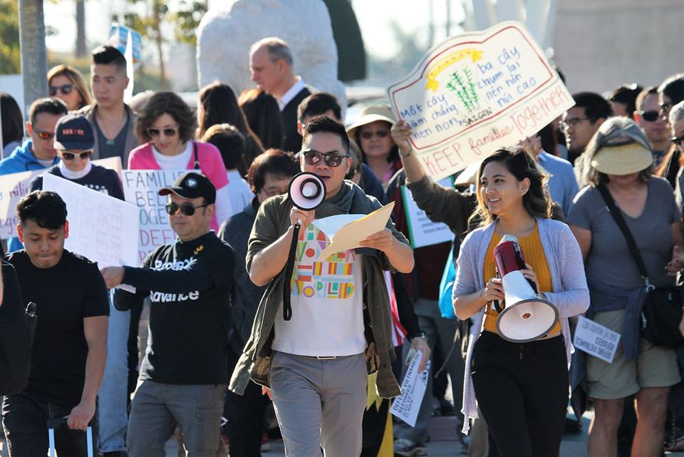 Orange County Vietnamese Community Members Demand for Protection of Vietnamese Refugees from Being Deported