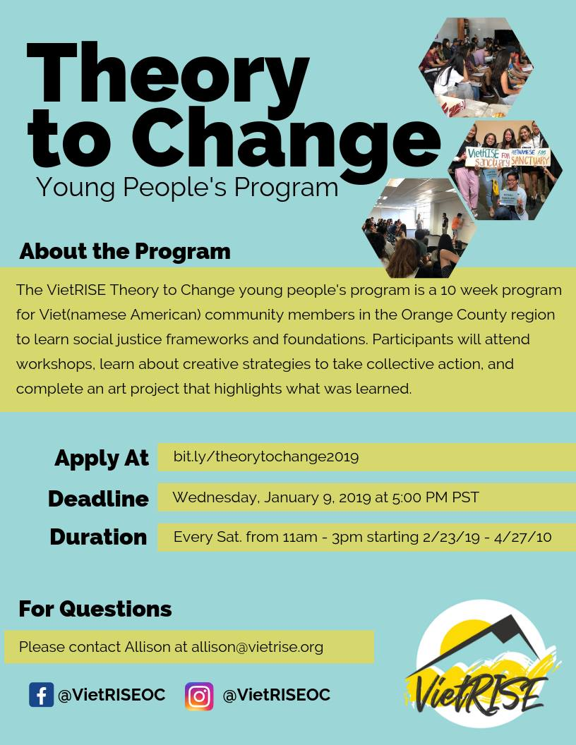 Apply for the VietRISE Theory to Change Program!