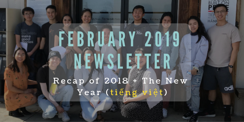 February Newsletter: Recap of 2018 + The New Year (tiếng việt)