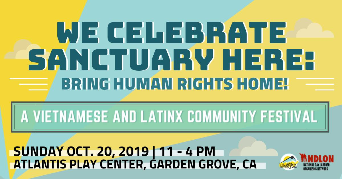 Join Us On Oct 20: We Celebrate Sanctuary Here Cultural Festival (Live Music, Art, and more!)
