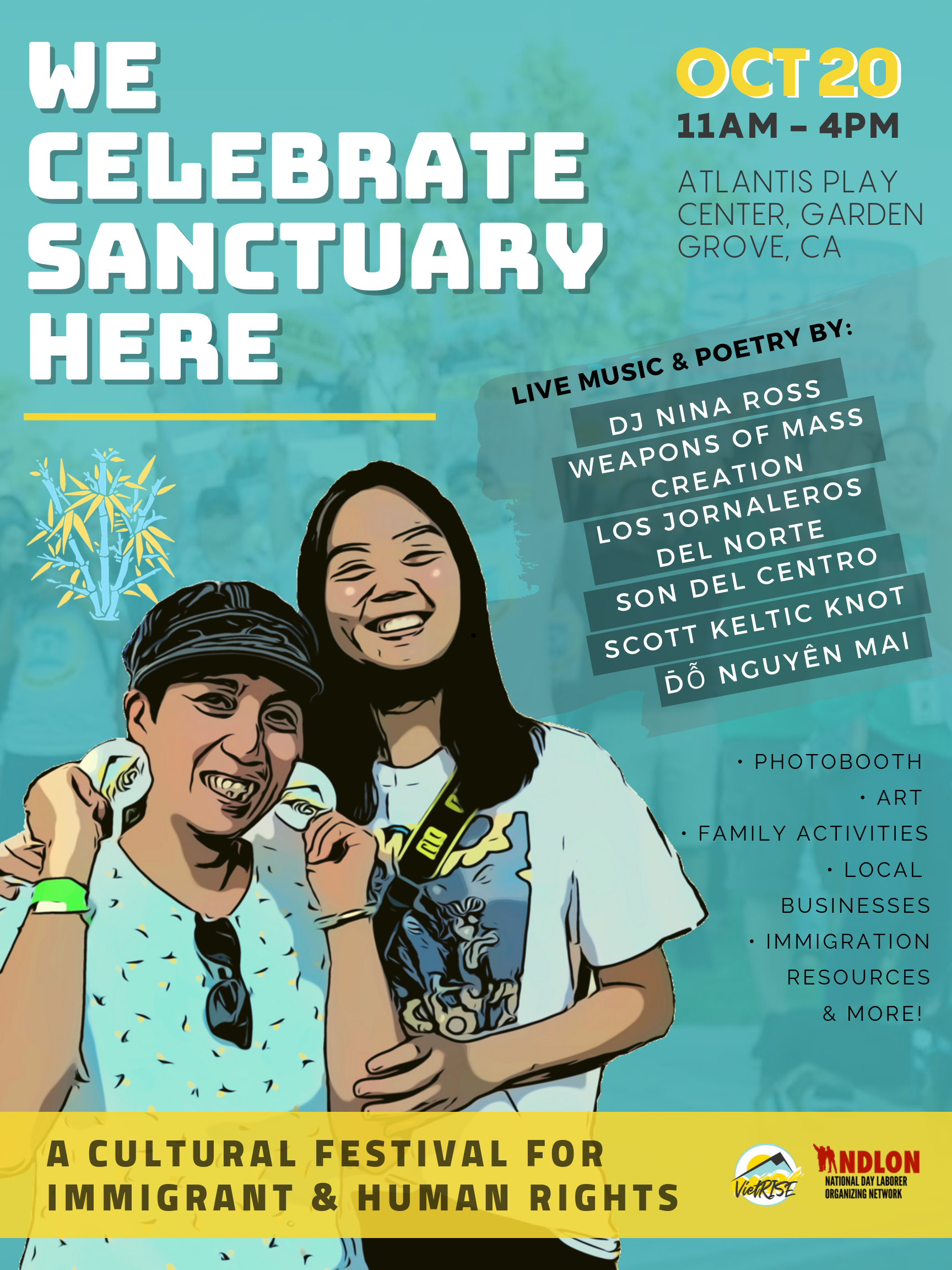 Press Release: Cultural Festival in Little Saigon to Celebrate Sanctuary for Immigrants and Refugees